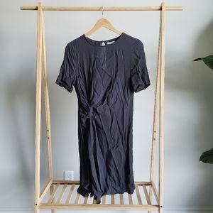 H&M Black Knotted Dress